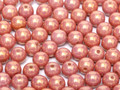 4mm Glass Round Beads (Druks) - Red Luster (50)