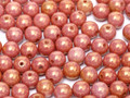4mm Glass Round Beads (Druks), Gold Luster