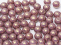 4mm Glass Round Beads, Lilac Vega Luster