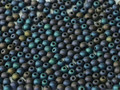 4mm Glass Round Beads (Druks) - Matte Blue Iris (50)
