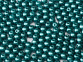 4mm Glass Round Beads (Druks), Pastel Emerald