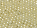 4mm Round Glass Beads, Pastel Light Cream (Qty: 50)