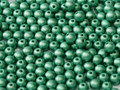 4mm Glass Round Beads (Druks), Green Turquoise