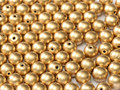 3mm Glass Round Beads (Druks), Aztec Gold