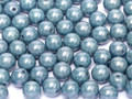 3mm Glass Round Beads (Druks) - Baby Blue Luster (50)