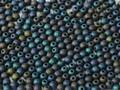3mm Glass Round Beads, Matte Blue Iris