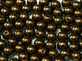 3mm Glass Round Beads (Druks) - Bronze (50)