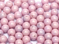 3mm Glass Round Beads, Lilac Luster