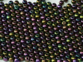 3mm Glass Round Beads, Purple Iris