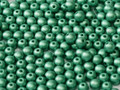 3mm Round Glass Beads, Green Turquoise