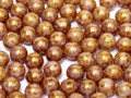4mm Glass Round Beads (Druks), Lilac Gold Luster