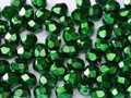 3mm Fire Polish, Heavy Metal Emerald (Qty: 50)