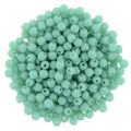 2mm Round Glass Beads, Turquoise
