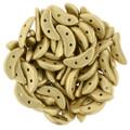 CzechMates Crescent Beads - Matte Metalllic Flax