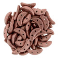 CzechMates Crescent Beads, Metallic Light Copper