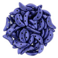 CzechMates Crescent Beads, Metallic Violet