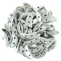 CzechMates Crescent Beads - Silver