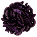 CzechMates Crescent Beads, Black Currant