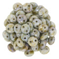 2-Hole Lentils 6mm, Opaque Green Luster (50)