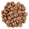 2-Hole Lentils 6mm, Matte Metallic Copper (50)
