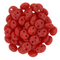 2-Hole Lentils 6mm, Opaque Red (50)