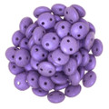 2-Hole Lentil 6mm, Purple Metallic Suede (50)