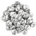 2-Hole Lentils 6mm, Silver (50)