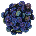 2-Hole Lentils 6mm, Blue Iris (50)