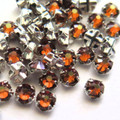 16ss Swarovski Rose Montees - Smoked Topaz