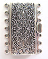 Box Clasp, 7-Strand, 36x26mm, Silver Plated (C78)
