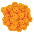 2-Hole Lentils 6mm, Opaque Sunflower Yellow (50)