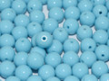 4mm Glass Round Beads (Druks) - Turquoise (50)