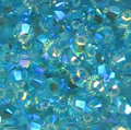 3mm Swarovski bicones - Light Turquoise AB2X (50)