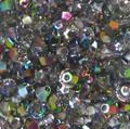 3mm Swarovski Bicones, Crystal Vitrail Medium