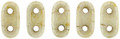 CzechMates 2-Hole Bar beads, Opaque Luster Picasso