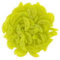 CzechMates Crescent Beads, Chartreuse