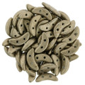 CzechMates Crescent Beads - Metallic Khaki (10 gr)