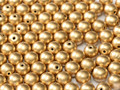 6mm Glass Round Beads (Druks) - Aztec Gold (25)