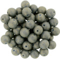 6mm Glass Round Beads, Pacifica Poppy Seed
