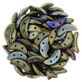 CzechMates Crescent Beads - Brown Iris (10 gr)