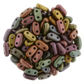 CzechMates 2-Hole Bar beads, Metallic Bronze Iris