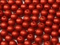 6mm Round Glass Beads, Metallic Lava Red (Qty: 25)