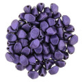 Pinch Beads, 5x3mm, Purple Metallic Suede