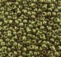 11-306, Olive Green Gold Luster (Miyuki)