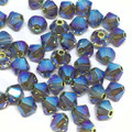 4mm Swarovski Bicones, Black Diamond AB2X