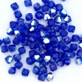 4mm Swarovski Bicones, Majestic Blue AB (Qty: 50)