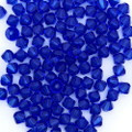 4mm Swarovski Bicones, Majestic Blue  (Qty: 50)