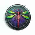 (30mm) Green/Purple w/ Painted Dragonfly (B07)