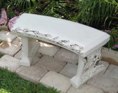 blank concrete bench