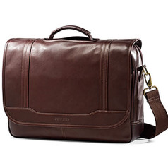 Samsonite Colombian Leather Flapover Business Case